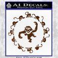12 Monkeys Decal Sticker CR Brown Vinyl 120x120