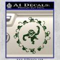 12 Monkeys Decal Sticker CR Dark Green Vinyl 120x120