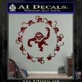 12 Monkeys Decal Sticker CR Dark Red Vinyl 120x120