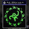 12 Monkeys Decal Sticker CR Lime Green Vinyl 120x120