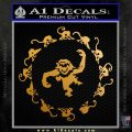 12 Monkeys Decal Sticker CR Metallic Gold Vinyl 120x120