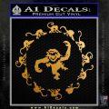12 Monkeys Decal Sticker CR Metallic Gold Vinyl 120x120