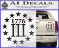 1776 Three Percenter Decal Sticker Carbon Fiber Black 120x97