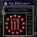 1776 Three Percenter Decal Sticker Pink Vinyl Emblem 120x120