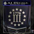 1776 Three Percenter Decal Sticker Silver Vinyl 120x120
