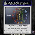 1776 Three Percenter Decal Sticker Sparkle Glitter Vinyl Sparkle Glitter 120x120