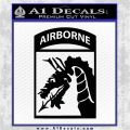 18th Airborne Sky Dragons Decal Sticker Black Vinyl Logo Emblem 120x120