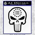 3 Percenter Skull Decal Sticker DO Black Vinyl Logo Emblem 120x120
