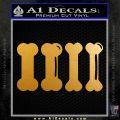 4 Dog Bones Decal Sticker Metallic Gold Vinyl 120x120