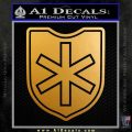 6th SS Division Nord Decal Sticker Nazi Metallic Gold Vinyl 120x120