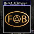 AA Alcoholics Anonymous Decal Sticker Friends Of Bill Metallic Gold Vinyl 120x120
