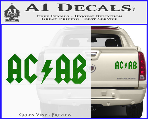 ACAB Decal Sticker AC DC » A1 Decals