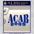 ACAB Decal Sticker Dice Blue Vinyl 120x120