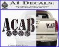 ACAB Decal Sticker Dice Carbon Fiber Black 120x97
