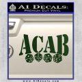ACAB Decal Sticker Dice Dark Green Vinyl 120x120
