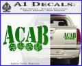 ACAB Decal Sticker Dice Green Vinyl 120x97