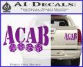 ACAB Decal Sticker Dice Purple Vinyl 120x97