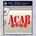 ACAB Decal Sticker Dice Red Vinyl 120x120