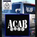ACAB Decal Sticker Dice White Vinyl Emblem 120x120
