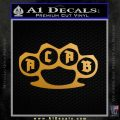 ACAB Knuckles Decal Sticker D1 Metallic Gold Vinyl 120x120