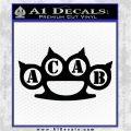 ACAB Knuckles Decal Sticker D2 Black Vinyl Logo Emblem 120x120