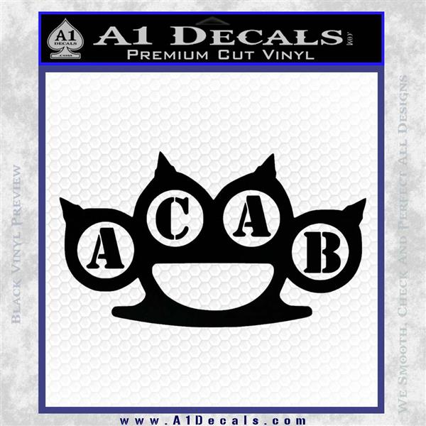 ACAB Knuckles Decal Sticker D2 » A1 Decals
