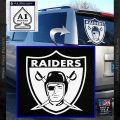 AFL Raiders Decal Sticker White Vinyl Emblem 120x120