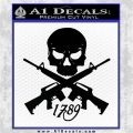 AR 15 Crossed Skull 1789 Decal Sticker Black Vinyl Logo Emblem 120x120