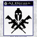 AR 15 Spartan Crossed Decal Sticker Black Vinyl Logo Emblem 120x120