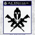 AR 15 Spartan Crossed Decal Sticker Black Vinyl Logo Emblem 120x120