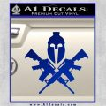 AR 15 Spartan Crossed Decal Sticker Blue Vinyl 120x120
