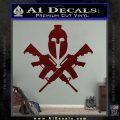 AR 15 Spartan Crossed Decal Sticker Dark Red Vinyl 120x120