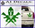 AR 15 Spartan Crossed Decal Sticker Green Vinyl 120x97