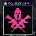 AR 15 Spartan Crossed Decal Sticker Hot Pink Vinyl 120x120