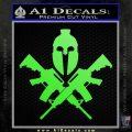 AR 15 Spartan Crossed Decal Sticker Lime Green Vinyl 120x120