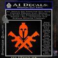 AR 15 Spartan Crossed Decal Sticker Orange Vinyl Emblem 120x120
