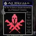 AR 15 Spartan Crossed Decal Sticker Pink Vinyl Emblem 120x120