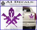 AR 15 Spartan Crossed Decal Sticker Purple Vinyl 120x97