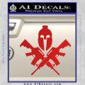 AR 15 Spartan Crossed Decal Sticker Red Vinyl 120x120