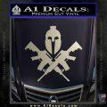 AR 15 Spartan Crossed Decal Sticker Silver Vinyl 120x120