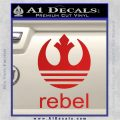Adidas Rebel Space Battle Decal Sticker Red Vinyl 120x120
