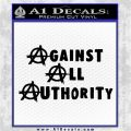 Against All Authority Decal Sticker Black Vinyl Logo Emblem 120x120