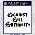 Against All Authority Decal Sticker Black Vinyl Logo Emblem 120x120