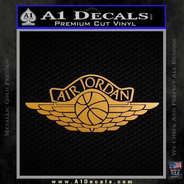 Air Jordan Decal Sticker INT Metallic Gold Vinyl