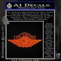 Air Jordan Decal Sticker INT Orange Vinyl Emblem 120x120