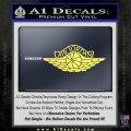 Air Jordan Decal Sticker INT Yellow Vinyl 120x120