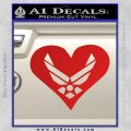 Airforce Logo Heart New Decal Sticker Red Vinyl 120x120