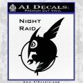 Akame Ga Kill Night Raid Full Decal Sticker Black Vinyl Logo Emblem 120x120