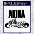 Akira Iconic Motorcycle Decal Decal Sticker Black Vinyl Logo Emblem 120x120