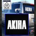 Akira Lettering Cyberpunk Anime Decal Decal Sticker White Vinyl Emblem 120x120